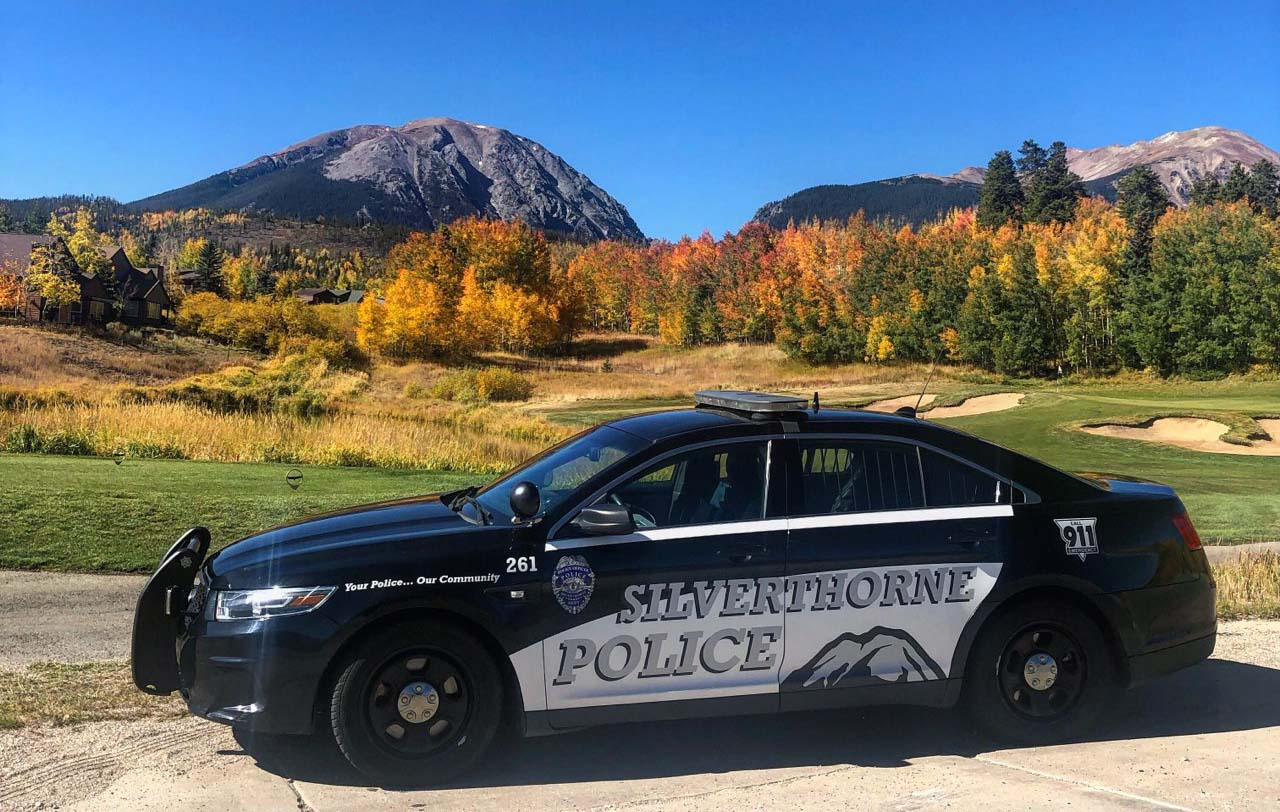 Aerial view of Silverthorne Exit 205 interchange and Factory Outlet Stores